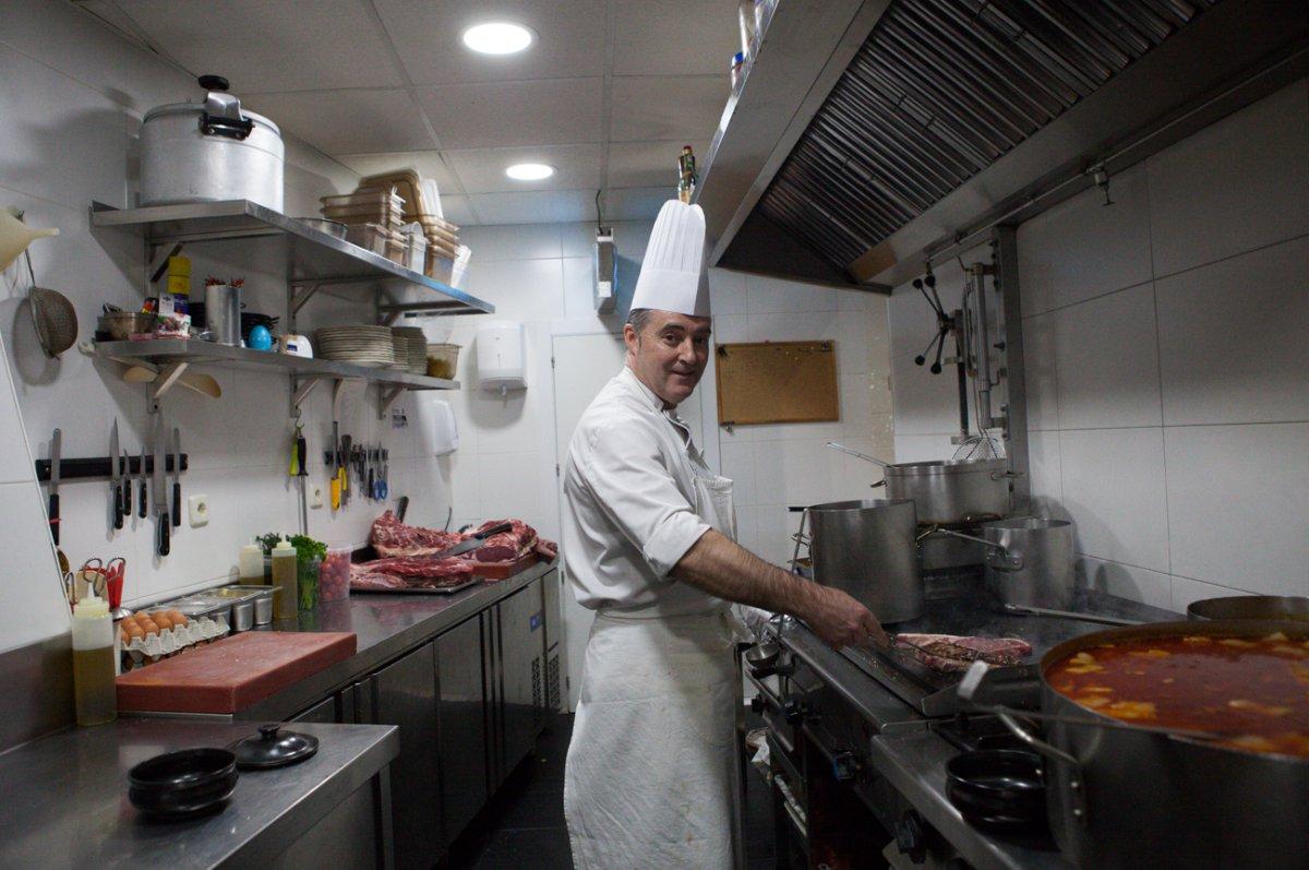 Restaurante Rascafría: 'El Pilón' -chef-. Foto: Helena Poncini