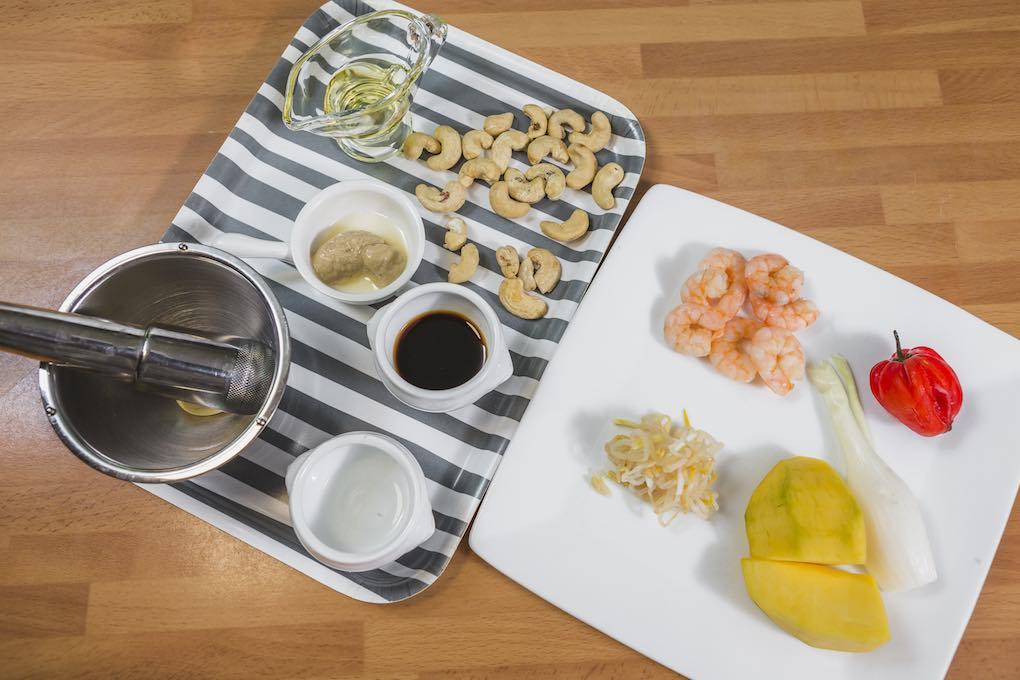 Ensalada de mango, ingredientes. Foto: David de Luis