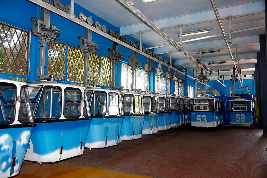 cabinas vintage en el Teleférico