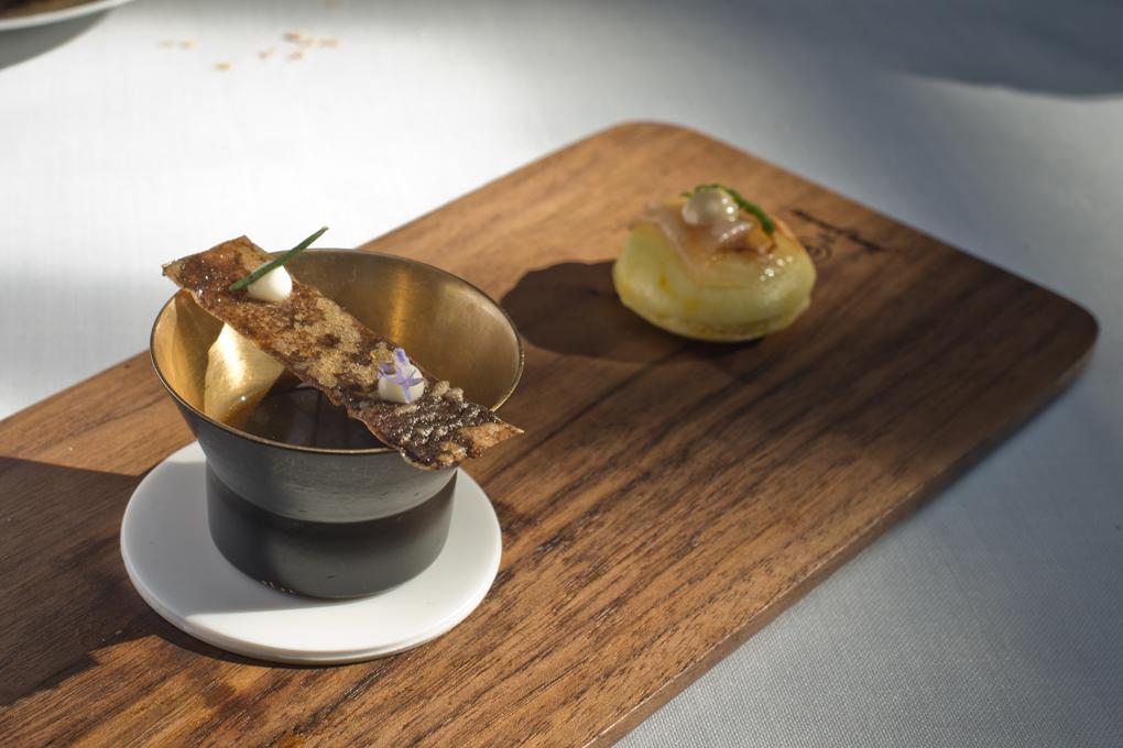 Bao castellano, sopa de cocido y tosta de morcilla