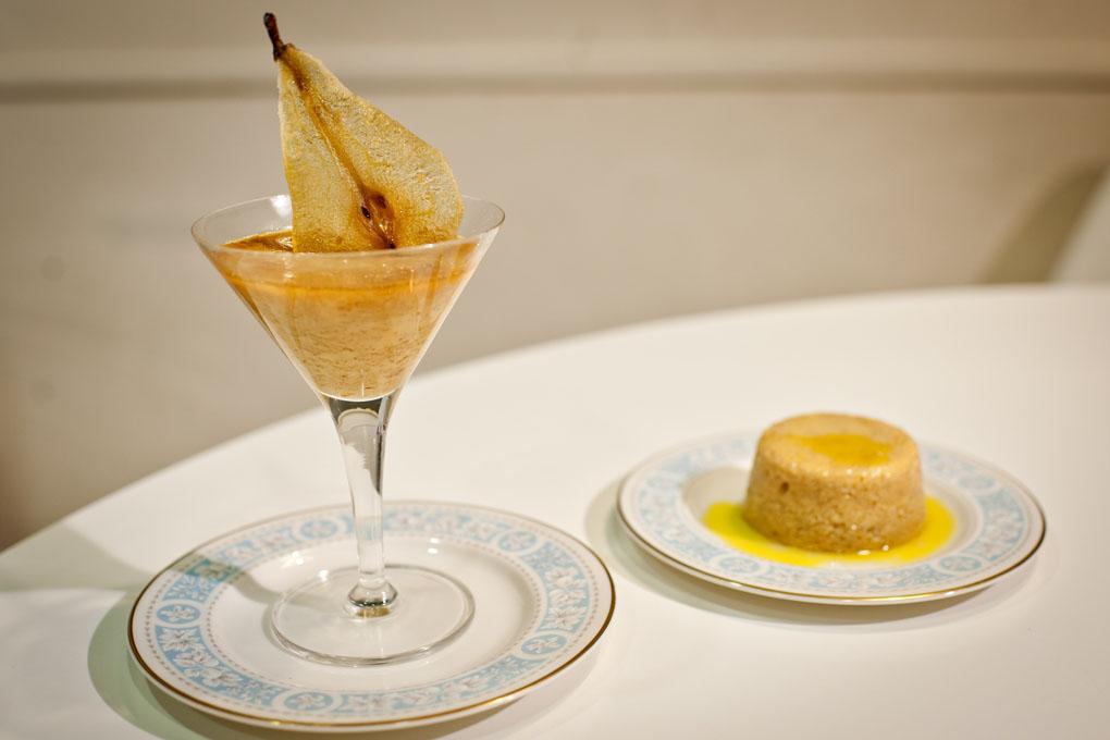Cena Navidad: Pátina de membrillos o peras con miel y vino dulce 1. Foto: Sofía Moro