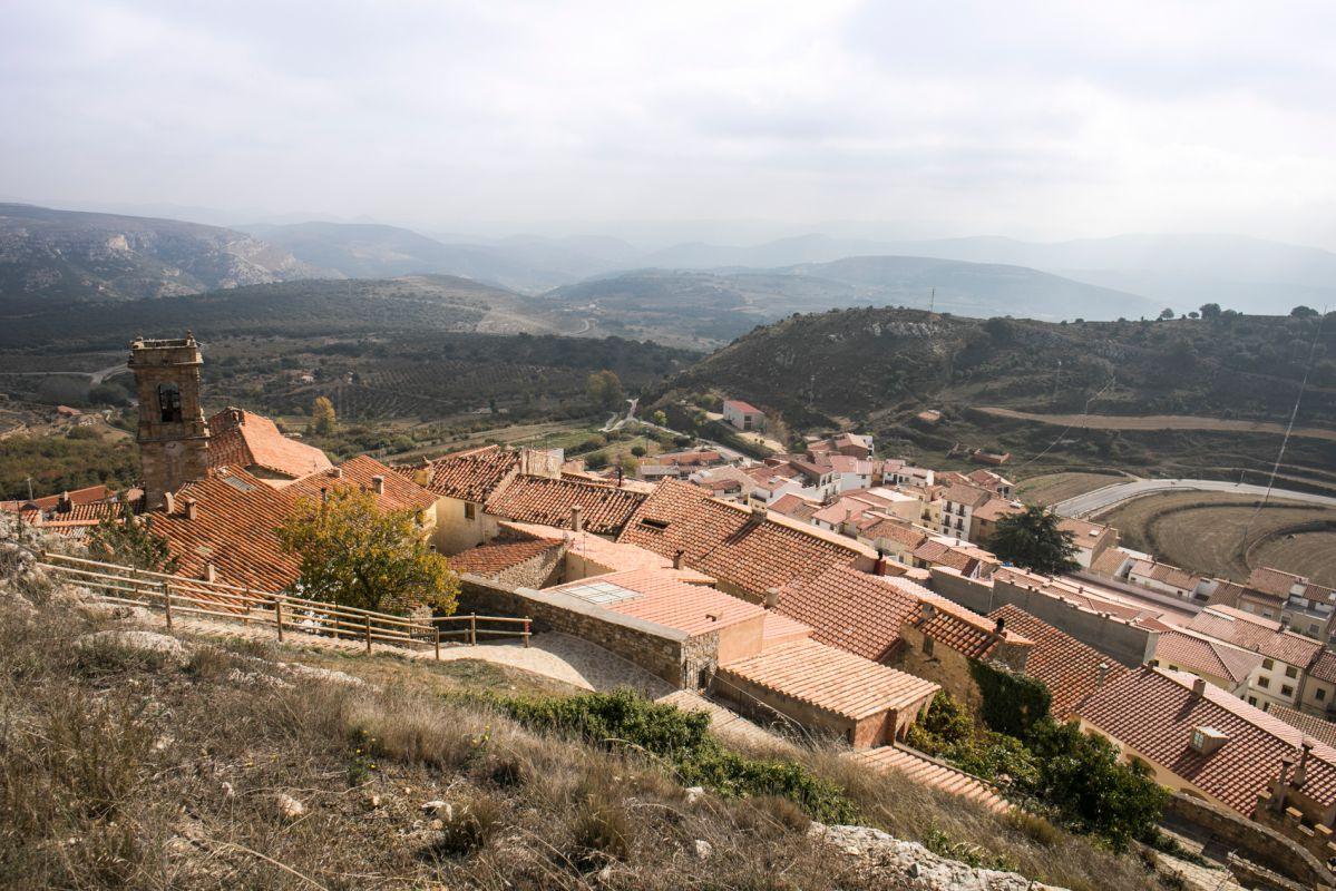 Tejados y paisaje desde Culla. Foto: Eva Máñez