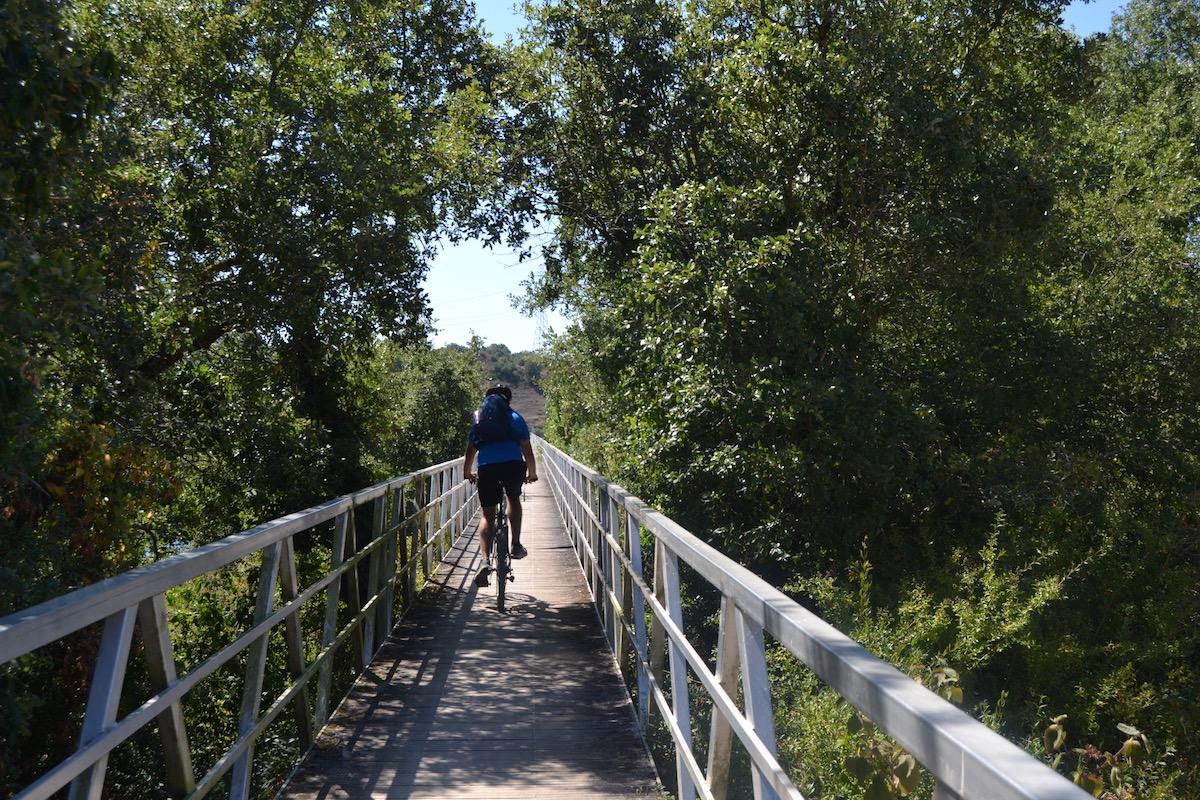 Una de las pasarelas del parque provincial Garaio. Foto: Júlia Manresa