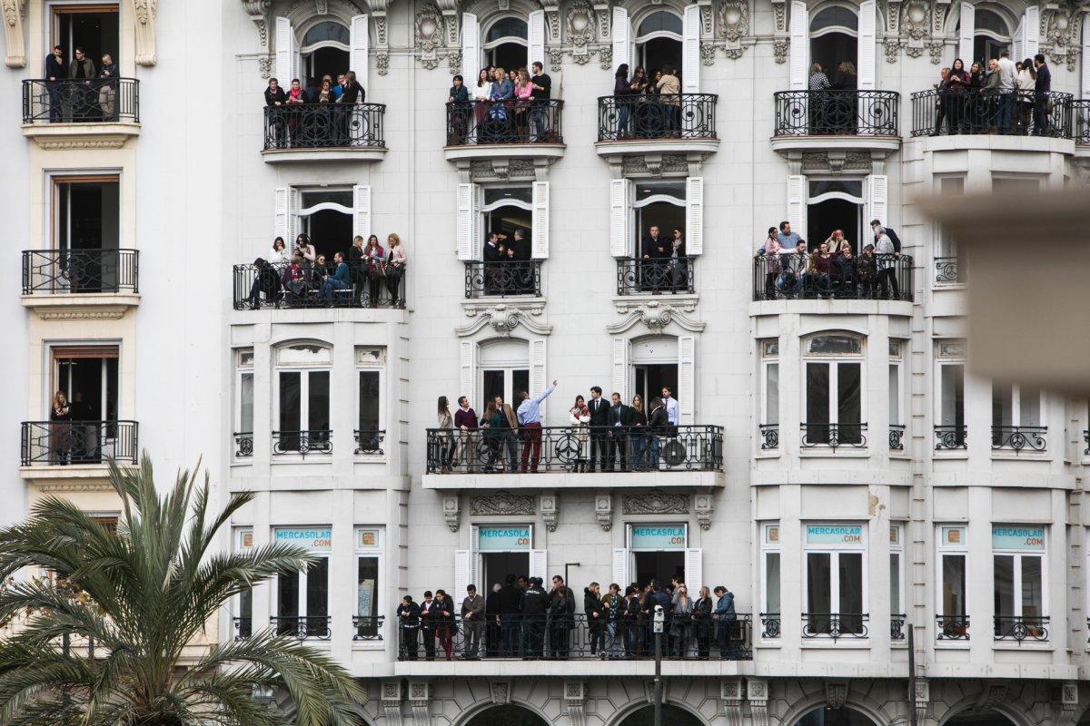 Balcones para ver las fallas