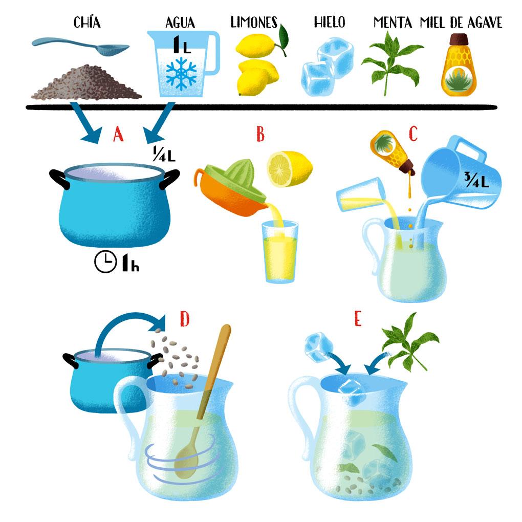 Instrucciones para hacer Agua de Chía