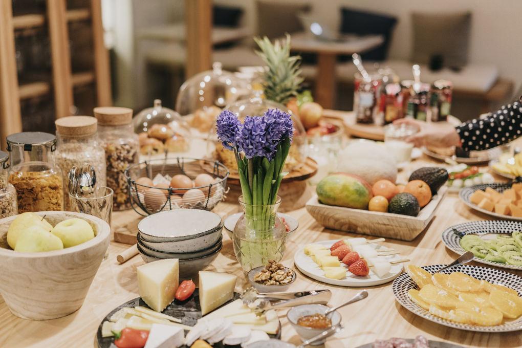 Detalle del desayuno en Casa Margot