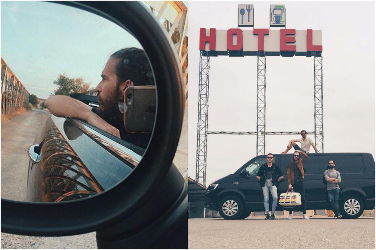 De gira con la furgo. Fotos: Instagram