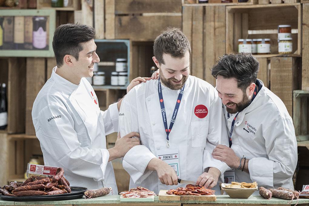 Alberto Lareo, Diego López y Daniel López en el Forum Gastronómico A Coruña 2017. Foto: Roberto Berdini