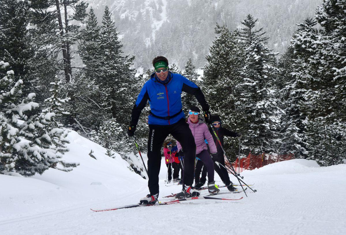 Esquí nórdico también con niños. Foto: Miguel Merino