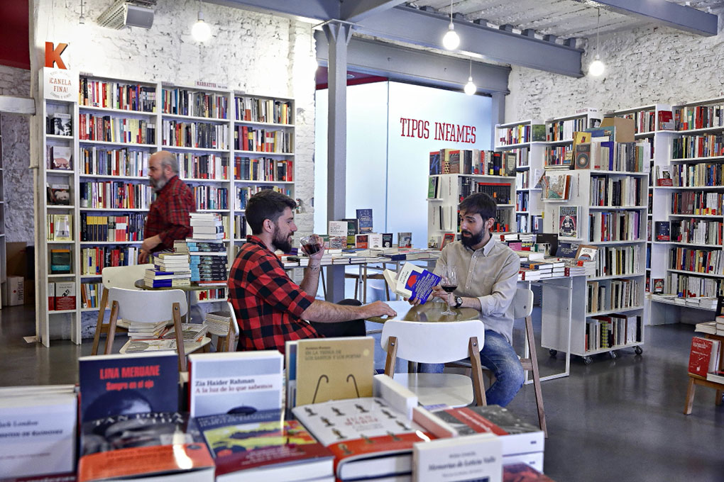 Librerías de Madrid. Interior de Tipos Infames. Foto: Roberto Ranero