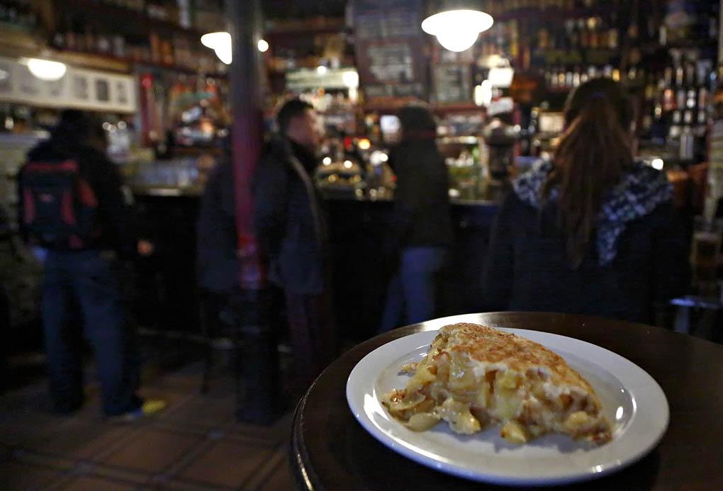 Tortilla en 'La Ardosa' de Madrid.