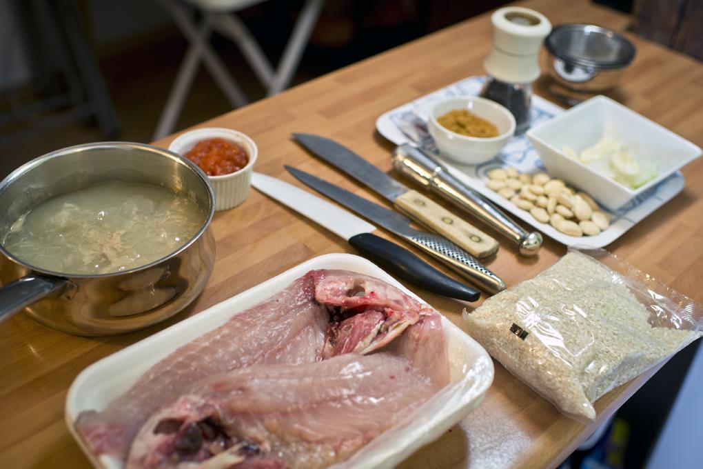 Hoy cocinan ellos: Ingredientes del arroz con salmonetes. Foto: Sofía Moro