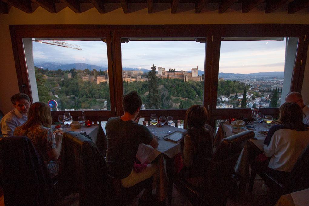 Vistas de la Alhambra desde Estrellas de San Nicolas