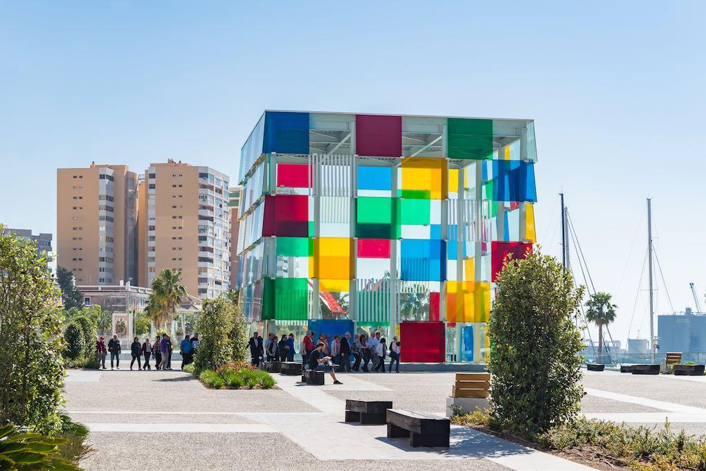 El Cubo en el Muelle Uno, del Centre Pompidou Málaga.