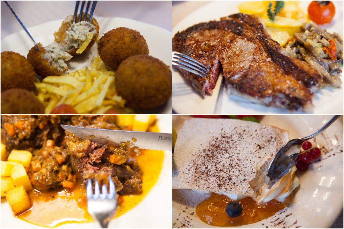 Restaurante Rascafría: 'El Pilón' -platos (collage)-. Foto: Helena Poncini
