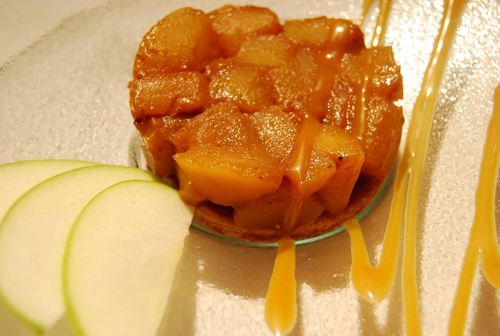 Un correcto milhojas de manzana servido a una temperatura inadecuada