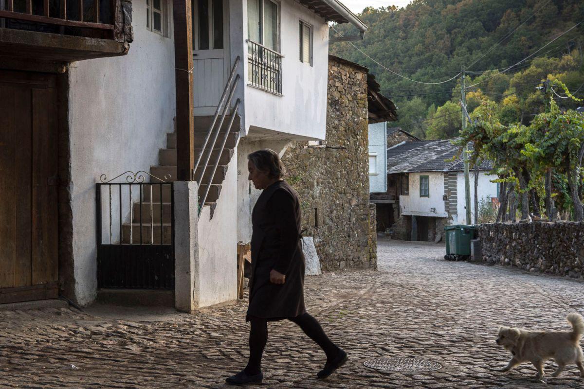Casas nuevas y tradicionales en Riohonor de Castilla. Foto: Manuel Ruiz Toribio