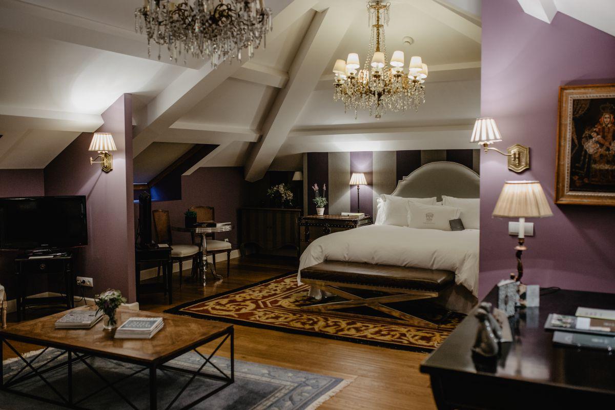 Una de las suites del hotel. Foto: Nuria Sambade