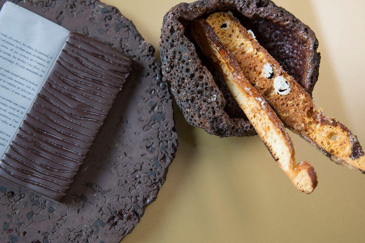 El pan de coca de Les Cols, uno de los postres más deseados. Foto: Kristin Block