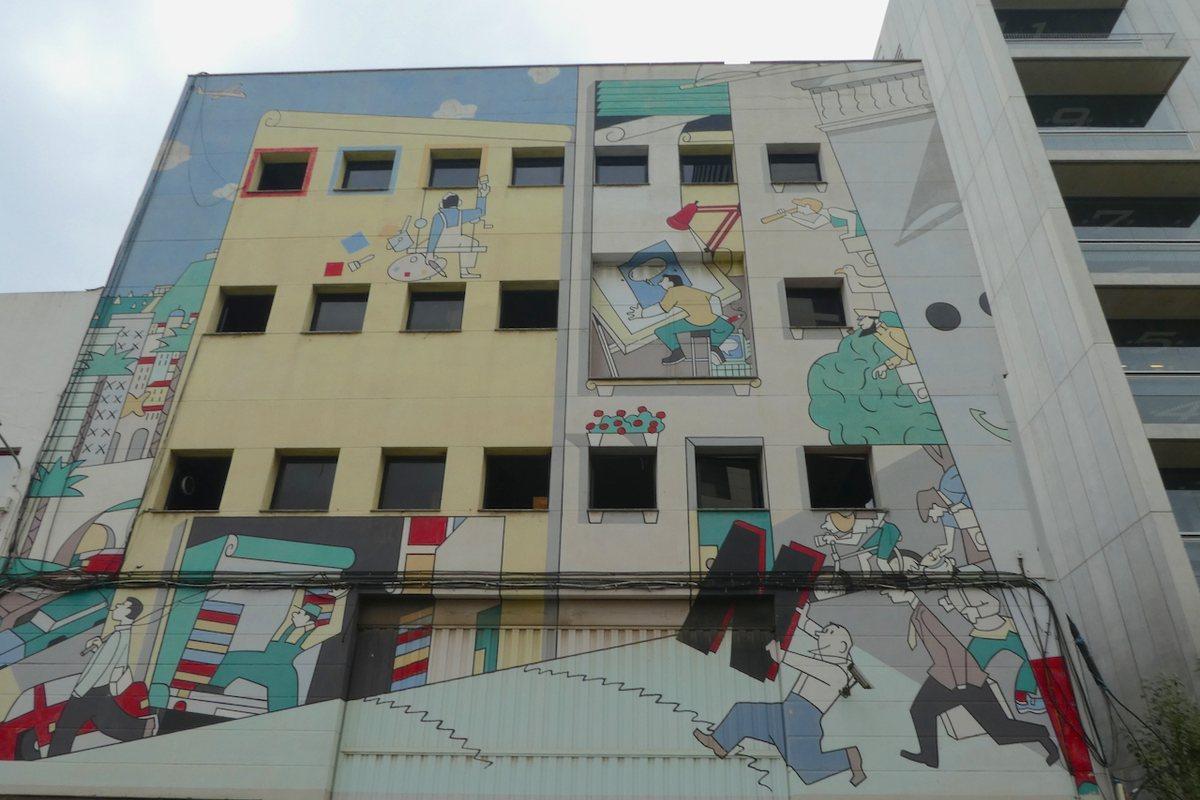 Fluvià, 49. Graffiti Barcelona