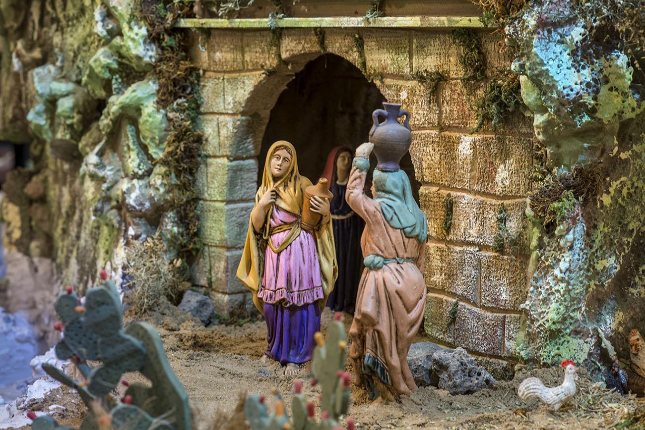 Belén Jerez de los Caballeros (Badajoz). Las aguadoras en la fuente de Nazaret. Foto: Alfredo Cáliz