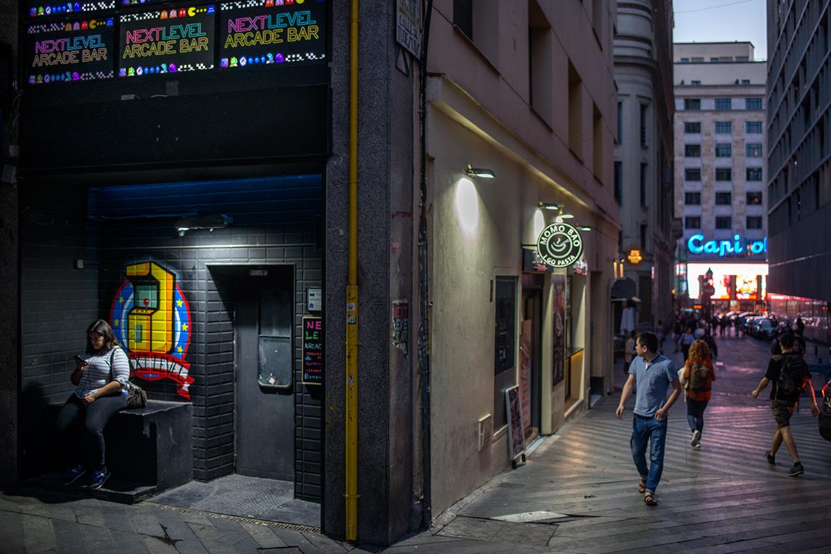 Next Level Arcade Bar, Madrid