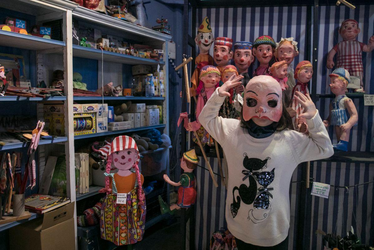 Máscaras y marionetas. Foto: Eva Máñez
