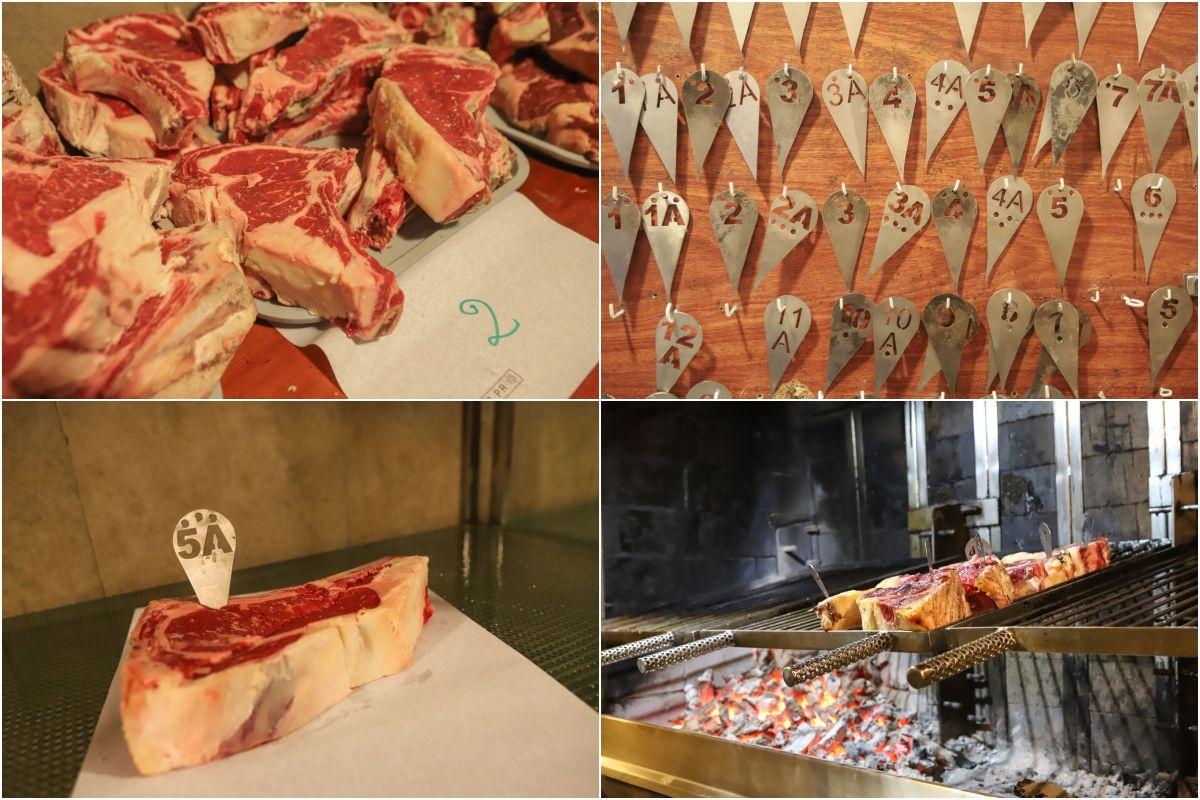 La carne por tamaños en Zelaia. Foto: Yoana Salvador