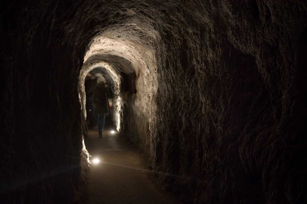 En una galería de la mina Almadén