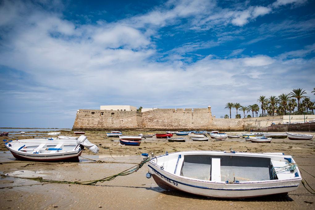 Vista desde la Caleta de Cádiz