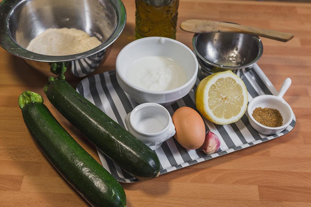 Ingredientes para buñuelos.