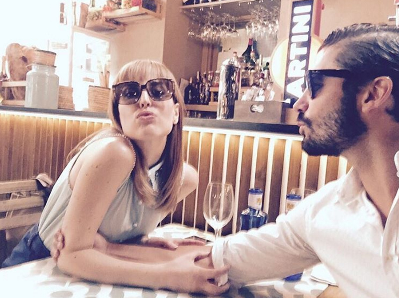 Natalia de Molina en uno de sus restaurantes favoritos