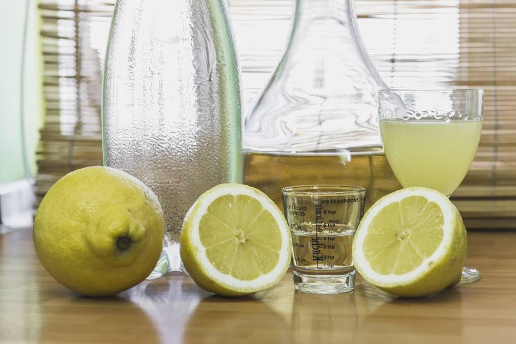Sangría de limón. Ingredientes. Foto: David de Luis