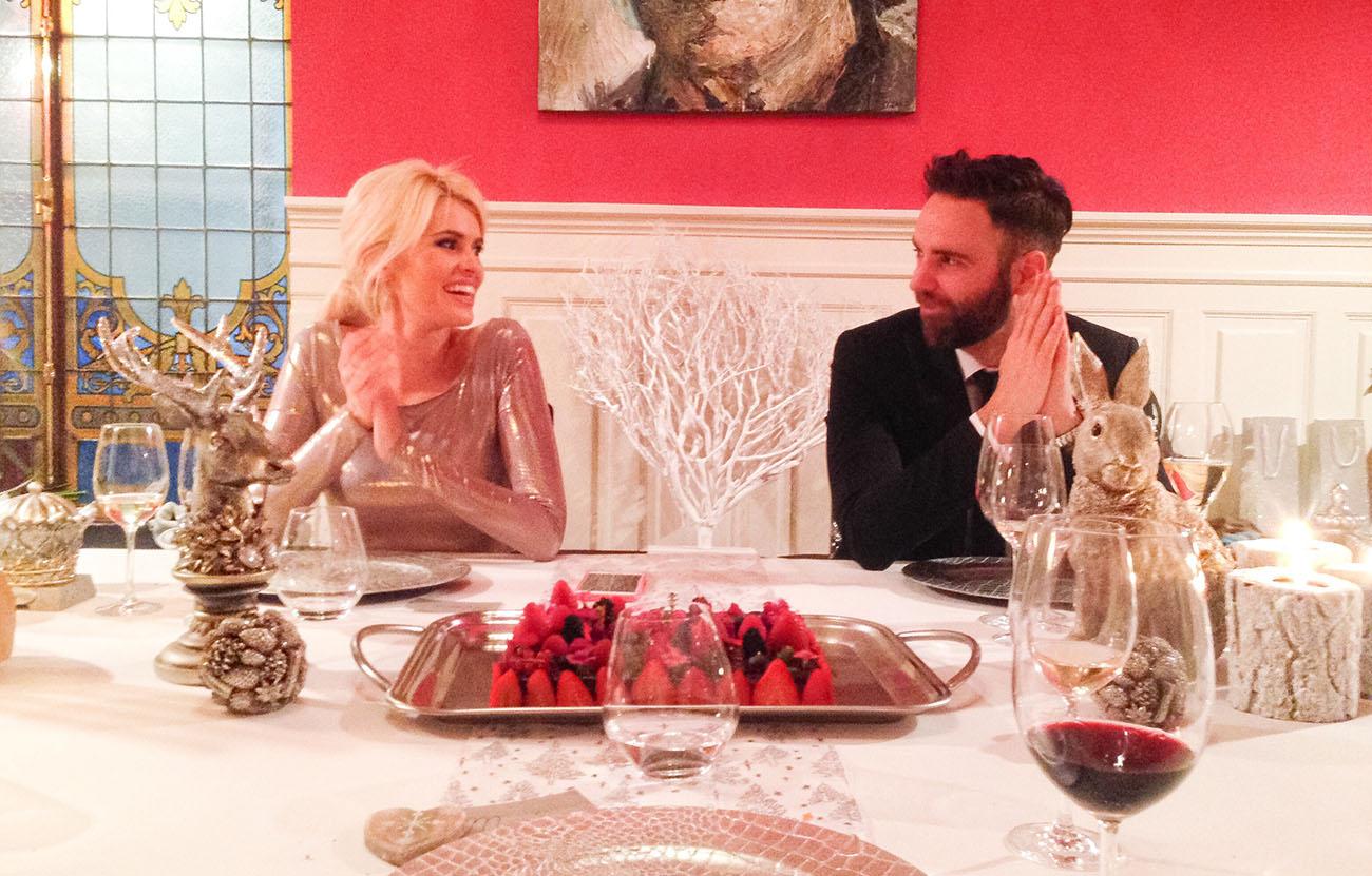 Adriana Abenia junto a su marido, Sergio Abad, en el restaurante 'Novodabo'. Foto cedida