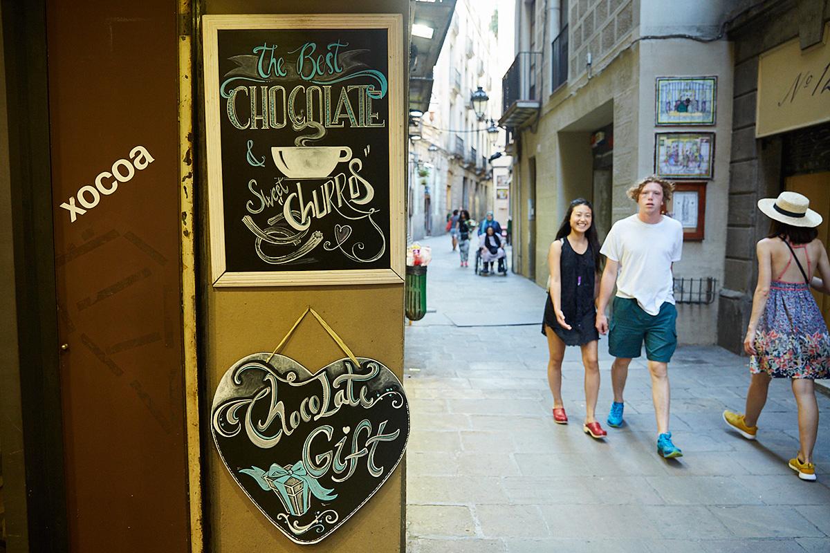 Petritxol Xocoa, Barcelona: Vista del interior, un paraíso del chocolate. Foto: Xavier Torres Baccetta