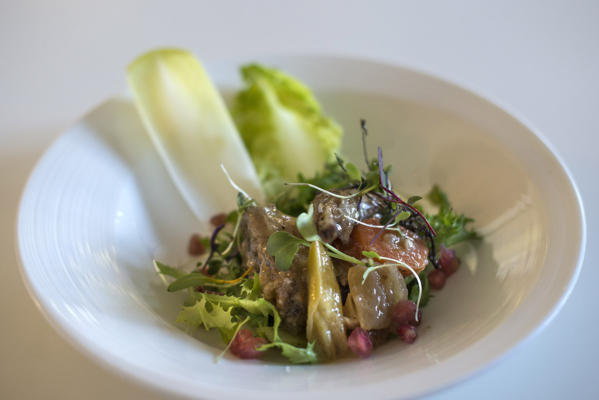 Restaurante Lera. ensalada de escabeches. Foto- Alfredo Cáliz