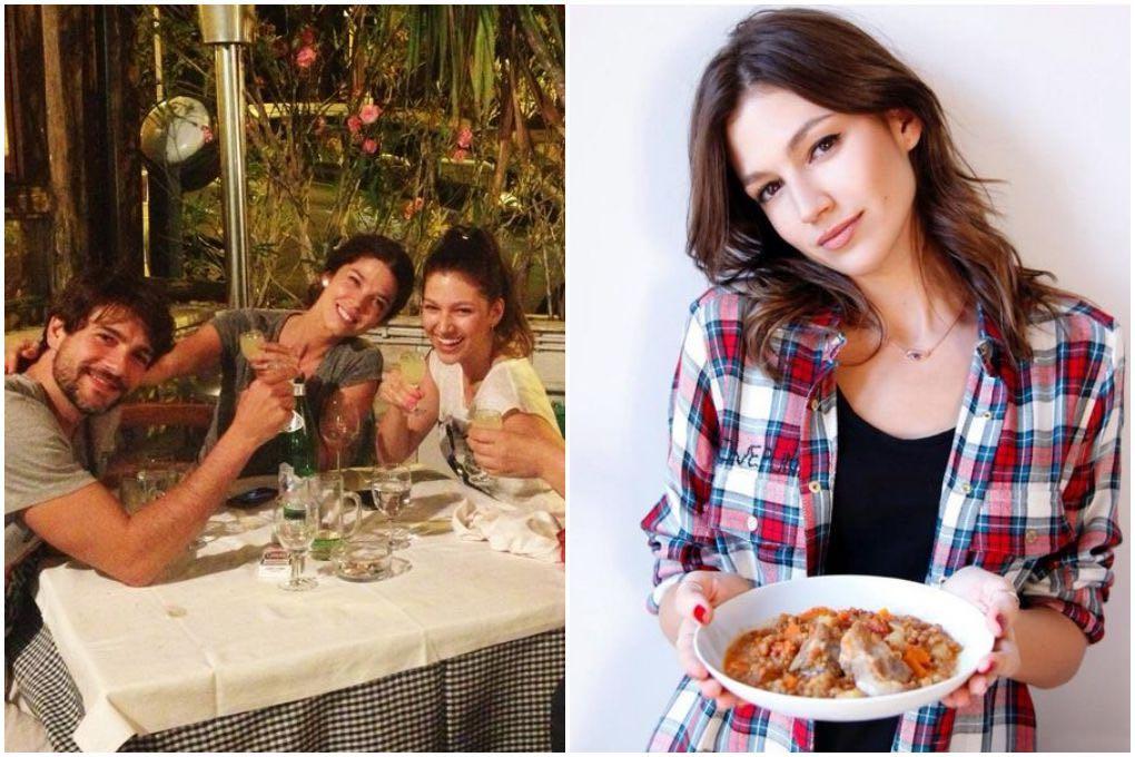 Cenando con compañeros y con un plato. Foto: Facebook  / Twitter
