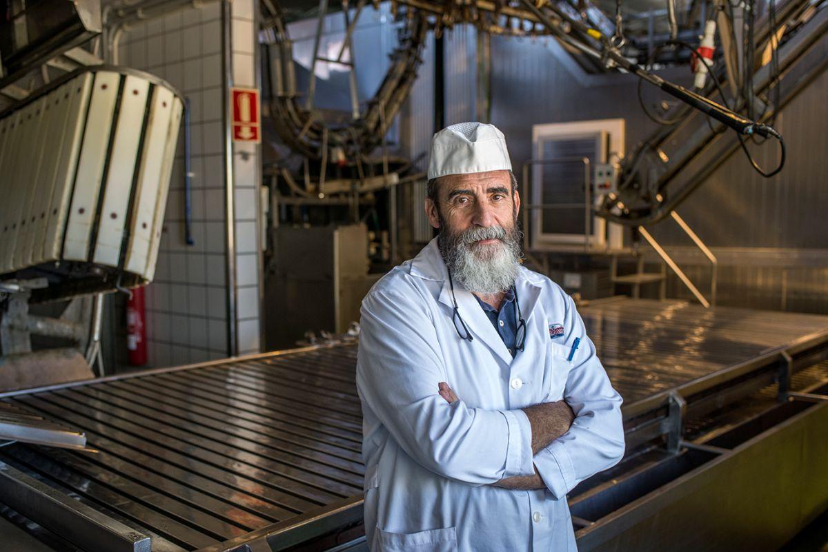 Santiago Martín, en la empresa familiar. Foto: Alfredo Cáliz