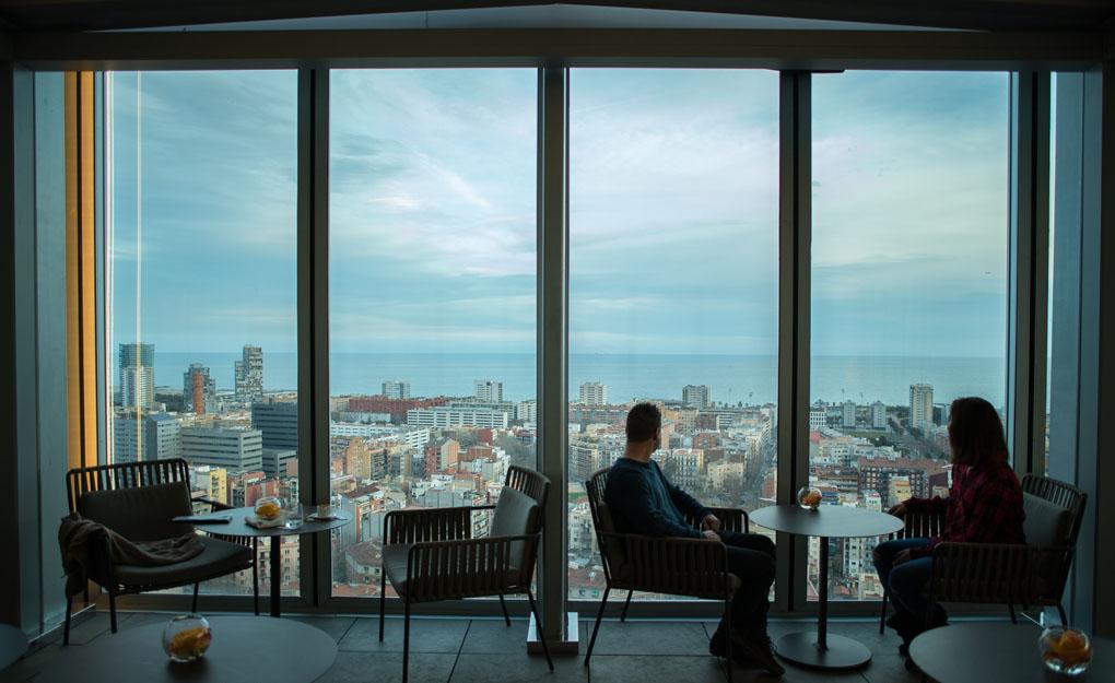 Vistas de Barcelona desde la Terraza Dos Cielos