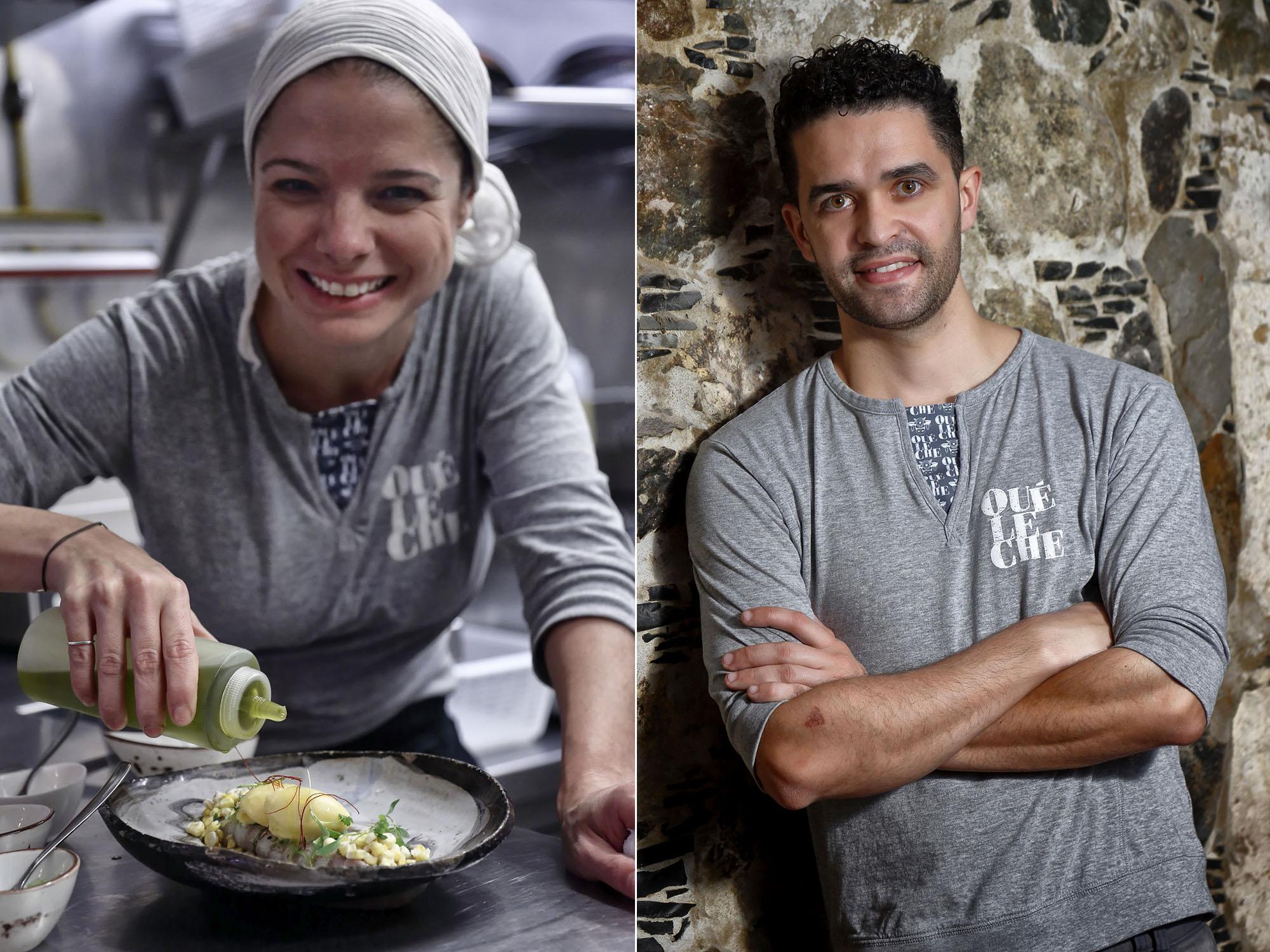 Restaurante Qué Leche (Las Palmas de GC) - Jennise Ferrari y Mario Rodríguez Ureña. Foto: Roberto Ranero