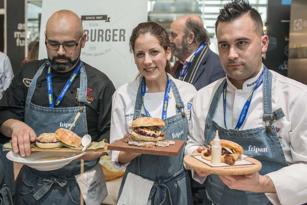 Concurso de hamburguesas en Madrid Fusion 2017 (ganadores). Foto: Alfredo Cáliz