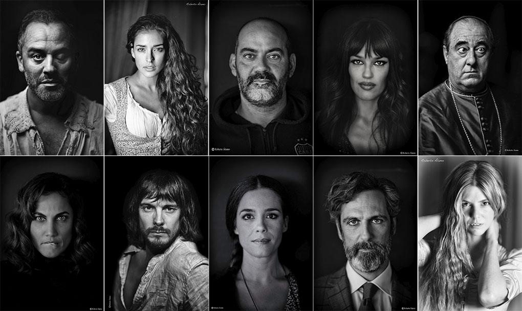Retrato de compañeros de reparto de Roberto Álamo. Foto: Roberto Álamo