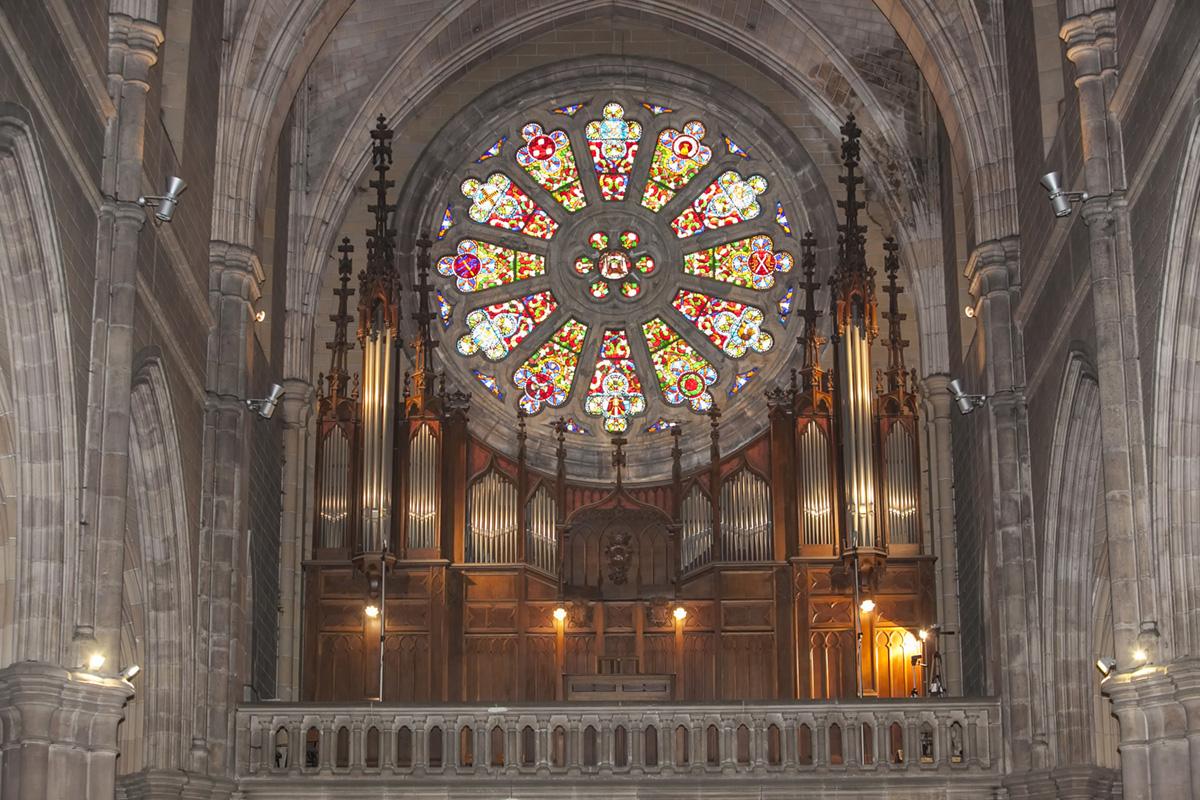 El órgano de la Iglesia de la Asunción (Torrelavega). Foto: