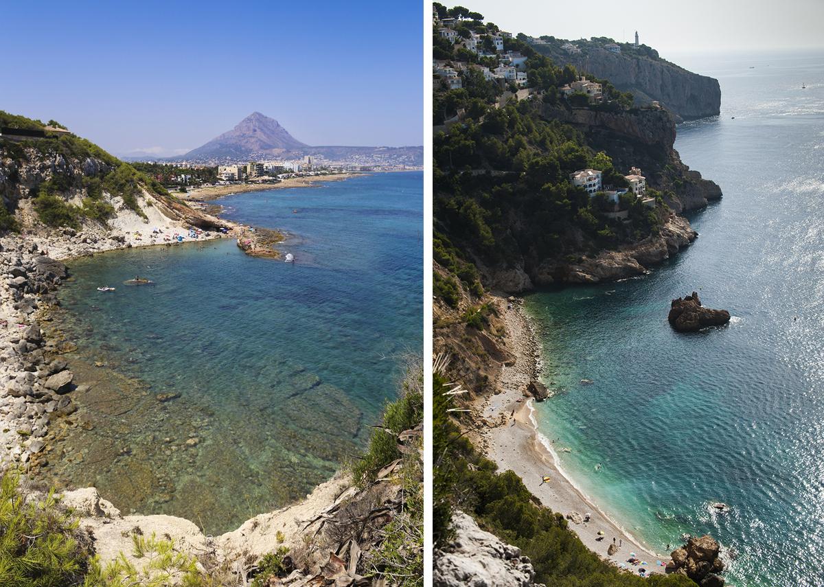 Playas de La Caleta y Torre Ambolo. Fotos: Xavi Gutiérrez y Retratería