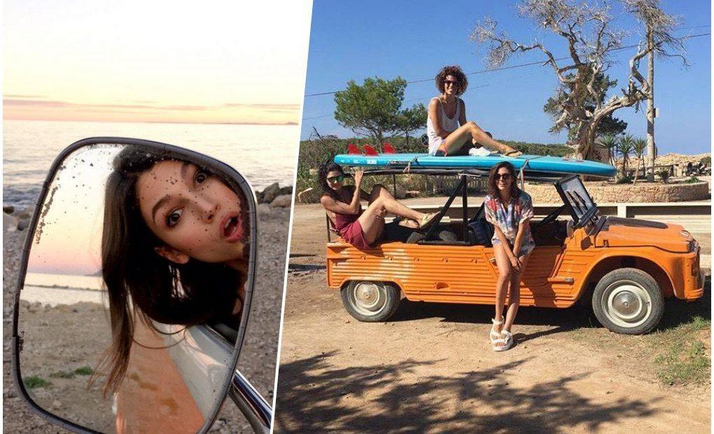 En Ibiza con amigas. Foto: Facebook / Twitter