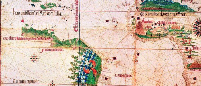 Planisferio de Cantino sobre el Tratado de Tordesillas