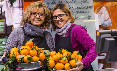 Mercado Central Valencia. Naranja Vicent y Eva. Fotos: Eva Mañez