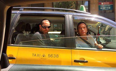 Los Secretos en taxi, en Barcelona. Foto: Facebook