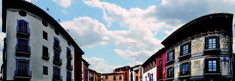 Plaza Mayor de Graus / Cedida por: Aitor Tellechea