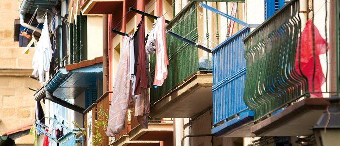 Balcones de la calle Nagusia de Getaria